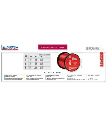 Hilo Bionix red  grauvell  1000 mtrs